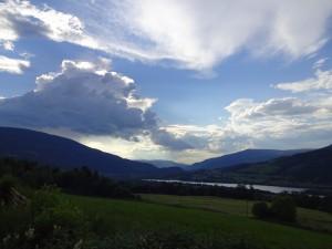 Big clouds over Gudbrandsdalen - but no rain. Große Wolken über dem Gudbrandstal - aber kein Regen.