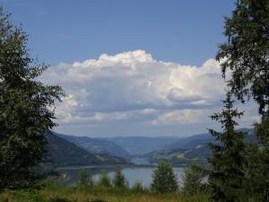 Last view into Gudbrandsdalen. Letzter Blick ins Gudbrandstal.