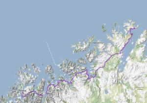 Part 1: Nothern Norway until Tromsø. Teil 1: Nordnorwegen bis Tromsø.